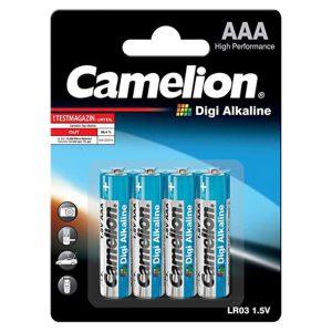 باتری نیم قلمی 4 تایی دیجی آلکالاین CAMELION